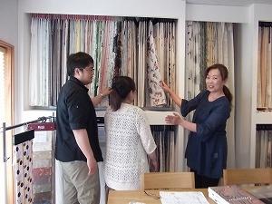 当社は、オーダーカーテンの専門店です。