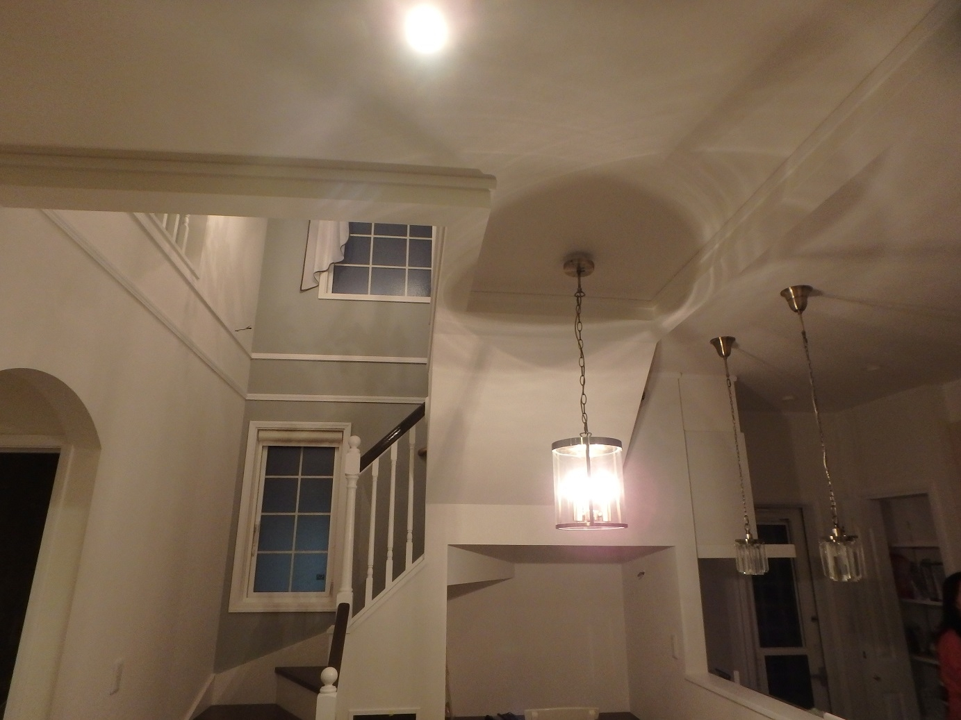 リビングから見た階段室高窓